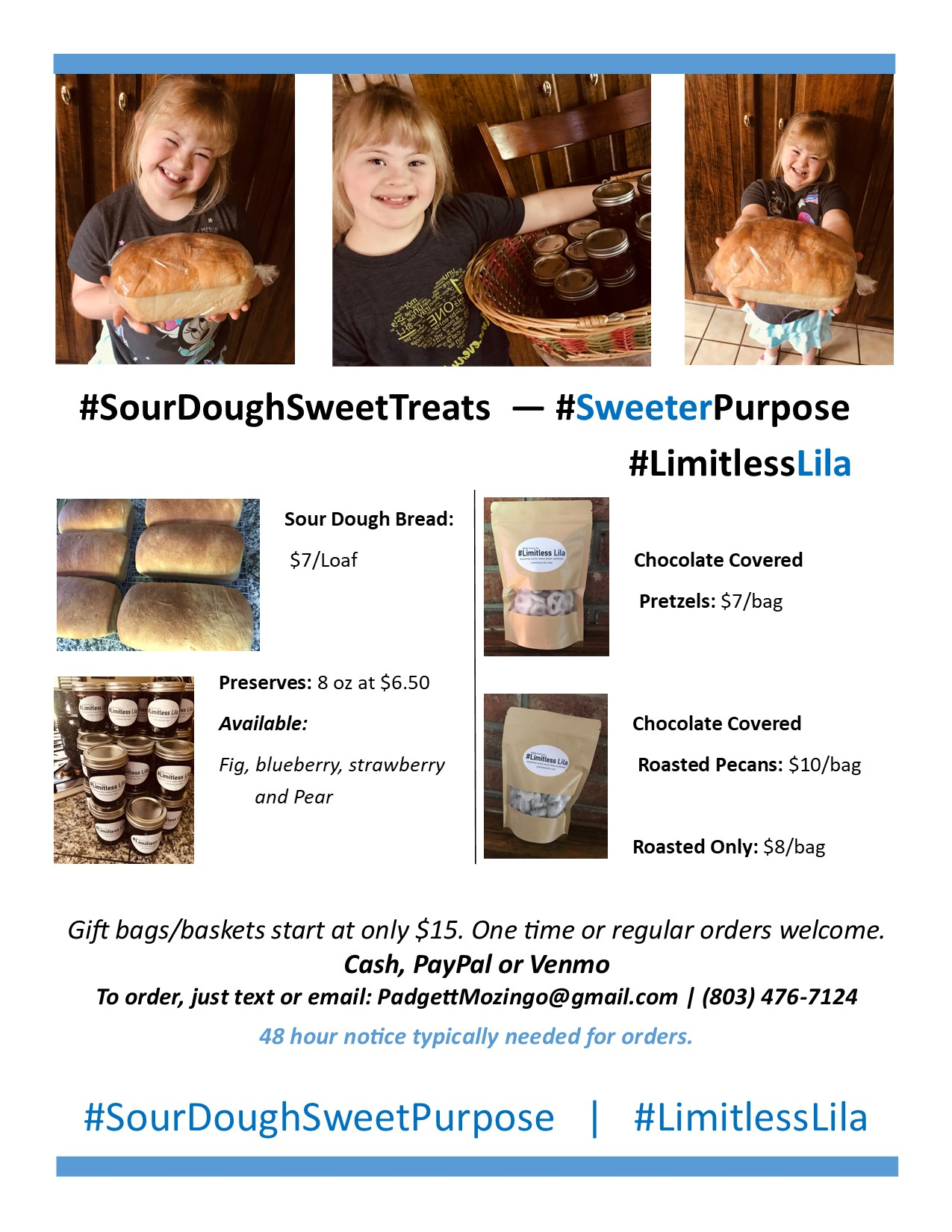 limitless lila sour dough bread